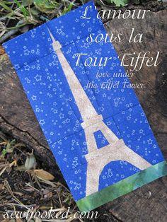 L'amour sous la Tour Eiffel A Paper Pieced by SewhookedShop, $4.50