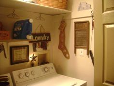 This laundry space looks almost identical to mine....hmmm, now to decorate it!