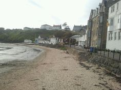 Kinghorn beach where I had my cafe.