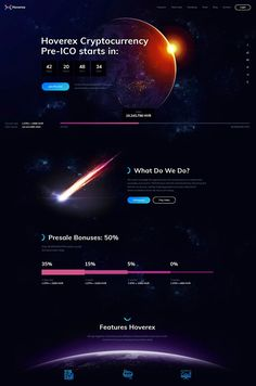 Best Cryptocurrency & ICO WordPress Theme with an outstanding cosmic design and powerful functionality: store, donations, sliders, charts and more. Website Design Layout, Website Design Inspiration, Web Layout, Layout Design, Ui Design Mobile, Web Ui Design, Flat Design, Design Design, Design Responsive