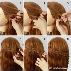 Four Strand Lace Braid 1) Divide into 4 equal section 2&3) Start braid from the left by over, under, over.  4) Adding hair into right section 5) Repeat step 2,3&4, Keep braiding until desired length 6) Finish  Happy hairdo-ing! ❤️