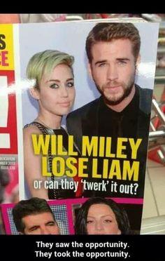 Lol haha funny pics / pictures / Miley Cyrus / Liam / Twerking / Twerk