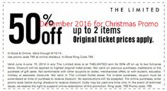 The Limited coupons december 2016