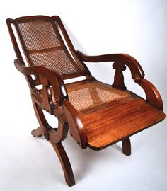 19th Century British Colonial Reclining Chair | From a unique collection of antique and modern lounge chairs at https://www.1stdibs.com/furniture/seating/lounge-chairs/