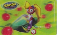 CARD CARTA 3D  CRASH BANDICOOT MR. DAY PARMALAT 2000 CARTA N.  3  OTTIMA