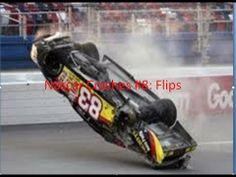nascar car flips