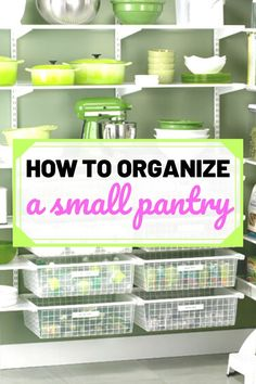How To Organize A Small Pantry Organizing your small pantry hacks! Do you have a small pantry space Small Pantry Organization, Home Office Organization, Organizing Your Home, Organized Pantry, White Pantry, Pantry Shelving, Pantry Labels, Home Management, Diy Room Decor