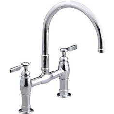 Kohler K6130-4-CP Parq Two-Handle Kitchen Faucet - Polished Chrome