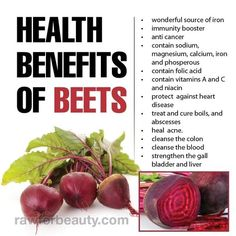 Beets help to support the liver and gallbladder, influencing fat metabolism