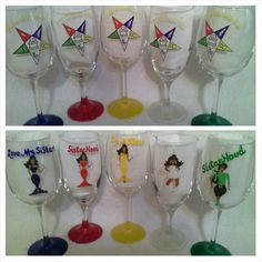 OES - Order of The Eastern Star logo image glassware with PriS'e Girl character by PriS'e Creations Walk In The Light, Eastern Star, Star Logo, Sistar, Painted Wine Glasses, Daughter Of God, Girls Characters, Logo Images, Flute