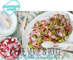 Summer cook : salade verte & rouge par Little Bouillon