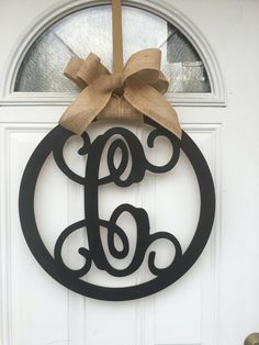 A personal favorite from my Etsy shop https://www.etsy.com/listing/506210890/monogram-door-hanger-monogram-wall-decor