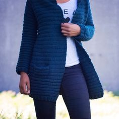 Nova Ridged Cardigan Knit Kit - Yarnplaza.com