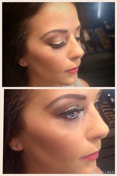 Soft smokey eye with lashes. Makeup by Charlotte George.