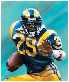 la rams | Los Angeles Rams Eric Dickerson Football Sports Signed Art Print