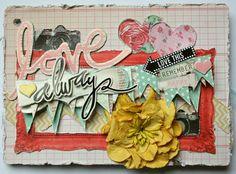 My Creative Scrapbook January Album kit created by Kristin Greenwood.
