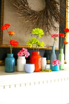 Upcycling Furniture | Upcycling Furniture / Painted jars