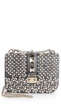 LOOKandLOVEwithLOLO Double Gorgeous! Valentino Silver Glamlock Flap Shoulder Bag