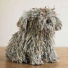 """*Paper Sculpture - """"Rascal"""" by Roost (Recyled Newspaper) ! Recycle Newspaper, Newspaper Crafts, Book Crafts, Arts And Crafts, Diy Crafts, Ideias Diy, Book Sculpture, Book Folding, Recycled Art"""