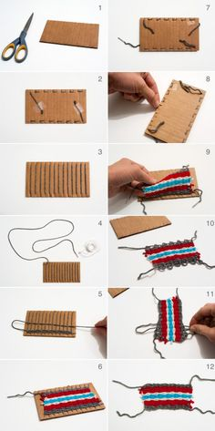 Weaving Tutorial for Beginners and Kids with Cardboard and Yarn