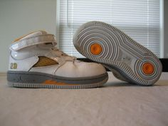 Boys Toddler Nike Air Jordan Fusion 5 AJF5 White  Orange Leather Shoes Size  8c. ce2137095