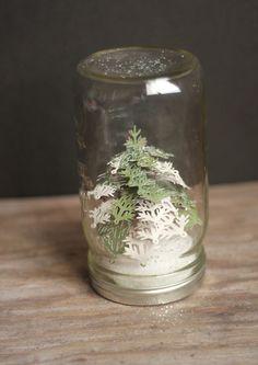 3D Floral Home Decor Cricut cartridge -- Mini pine tree mason jar by The Crafting Chicks. Make It Now in Cricut Design Space