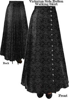 Victorian Walking Skirt in Jacquard - Amer Middaugh