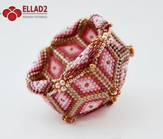 Peyote beaded Bowl - Beading Tutorials and Patterns by Ellad2