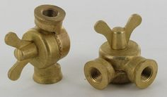 1/8F X 1/8F ips. BUTTERFLY KEY CAST BRASS SWIVEL WITH TEETH UNFINISHED BRASS.