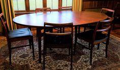 Arne Vodder Denmark Sibast Mobler Mid-Century Modern Dining Table 8 Chairs #ScandanavianModern #SibastMoblerArneVodder