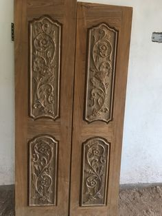 Front Door Design Wood, Wooden Door Design, Main Door Design, Modern Wooden Doors, Pooja Mandir, Teak, Carving, Texture, Interior