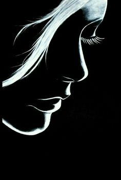 What is Your Painting Style? How do you find your own painting style? What is your painting style? Pencil Art Drawings, Art Drawings Sketches, Music Drawings, Silhouette Face, Silhouette Of Woman, Shadow Silhouette, Silhouette Painting, Black Canvas Paintings, Black Canvas Art