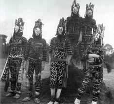 """ukpuru:  """" Igbo Agbogho Mmuo (maiden spirit) masks of unknown date and origin.  """""""