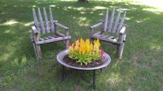 i drilled some holes in an old fire pit and planted celosia to look like, gardening, outdoor living, repurposing upcycling Make A Fire Pit, Diy Fire Pit, Fire Pit Backyard, Backyard Bbq, Fire Pits, Backyard Ideas, Dream Garden, Garden Art, Garden Ideas