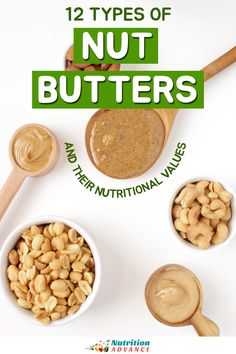 A guide to 12 types of nut butters and their nutritional values. From staples such as peanut butter to lesser-known options like walnut butter. Also, a look at how to use each of them. #nuts #nutrition Macadamia Nut Butter, Pistachio Butter, Walnut Butter, Cashew Butter, Whole Nut, Nutrition Articles, Nutritional Value, Different Recipes, Food Processor Recipes