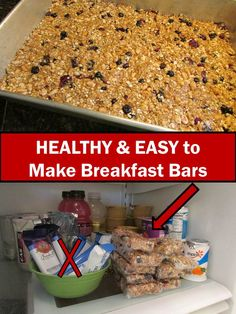 EASY DIY Homemade Breakfast Bars - Very healthy and QUICK and EASY!  Step-by-step directions with lots of photos. ENJOY!
