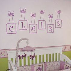 Can totally see this in a girl nursery.  :-)  Amazing selection of decals @dalidecals.com.