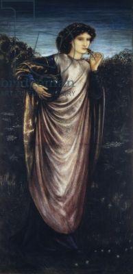 Morgan Le Fay, 1862 (gouache on paper)