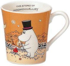Moomin Valley Mug Cup Yamaka Orange Moominpappa from Japan Gift