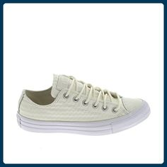 Converse Baskets Converse Chuck Taylor All Star Ox Cuir Craft Blanc Femme, Damen Sneaker , - Blanc-Beige - Größe: 38 EU - Sneakers für frauen (*Partner-Link)