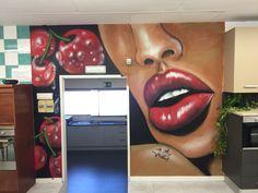 Mural labios de cereza