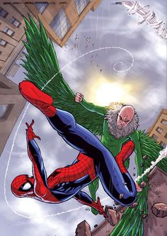 The Paperback of the Amazing Spider-Man: Spider-Man Versus the Vulture (I Can Read Book 2 Series) by Susan Hill, Andie Tong, Jeremy Roberts Comic Book Villains, Marvel Villains, Marvel Dc Comics, Marvel Heroes, Spiderman Book, Amazing Spiderman, Vulture Marvel, Marvel Fight, Greatest Villains