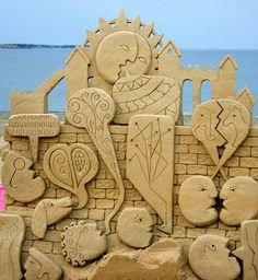 JPB: Sand Sculpture | Abstract sand sculpture