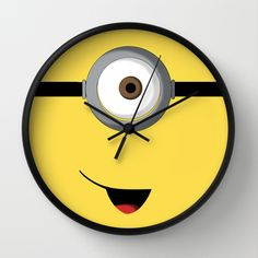 Minion wall clock by bearded manatee for child s bedroom