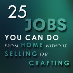 25 Jobs You Can Do From Home Without Selling or Crafting Christian Women, You Can Do, Crafting, Woman, Basteln, Crafts To Make, Crafts, Craft, Girl Scout Crafts