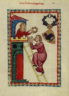 Ilustración del Codex Manesse. Heidelberg, Germany