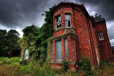 Whittingham Asylum--    Set in woody grounds in Lancashire, the now-decaying Whittingham Asylum was at one stage the largest in Britain. Built in 1869 from the designs of Henry Littler, by 1939 its main building and annexes housed 3533 patients and 548 staff.
