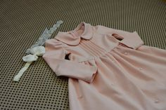 pearl dress with peter pan collar. by YeraldinIsmerioDsgn on Etsy