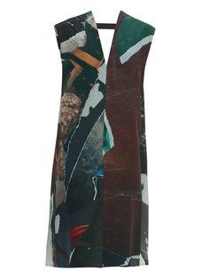Multi-print drape-back dress | Maison Margiela check out my blog :) handlethisstyle.com
