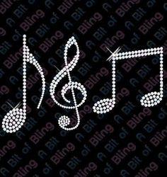 Details about Hotfix DIY Diamante Musical Notes Transfer Bling Hotfix DIY Diamante Musical Notes Transfer Bling Rhinestone Art, Rhinestone Transfers, T Shirt Remake, Hot Fix, Glitter Crafts, Dot Art Painting, Quilling Patterns, Mandala Design, Music Notes